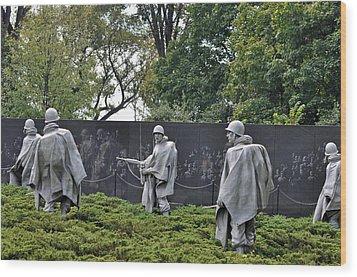 Korean War Memorial 4 Wood Print by Teresa Blanton