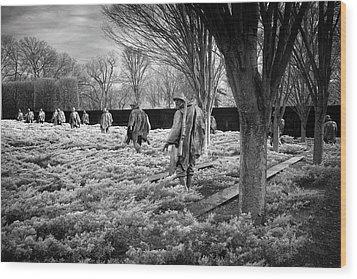 Korean War Memorial Wood Print by Paul Seymour