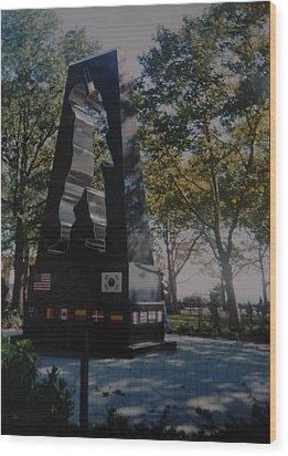 Korean War Memorial Wood Print by Rob Hans