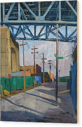 Kosciuszko Bridge Shadows Wood Print by Thor Wickstrom