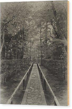 Koto-in Zen Temple Forest Path - Kyoto Japan Wood Print by Daniel Hagerman