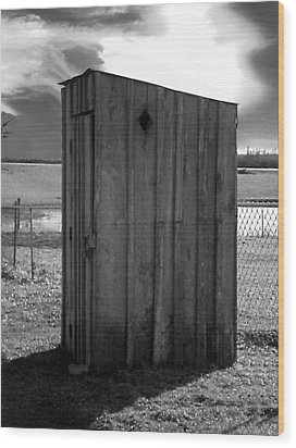 Koyl Cemetery Outhouse5 Wood Print by Curtis J Neeley Jr