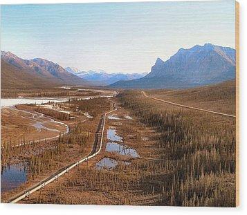 Wood Print featuring the photograph Koyukuk River Valley by Adam Owen