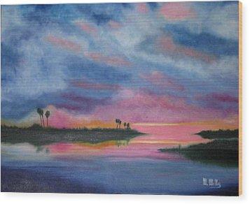 Kramer Island Sunset Wood Print