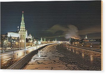 Wood Print featuring the photograph Kremlin View by Gouzel -