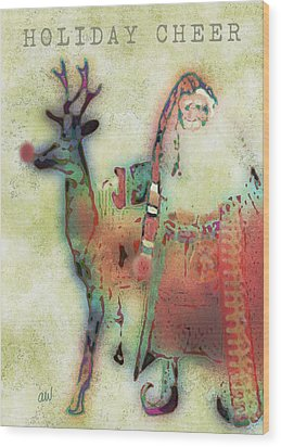 Kris And Rudolph Wood Print