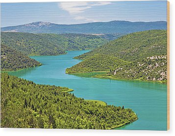 Krka River National Park View Wood Print by Brch Photography