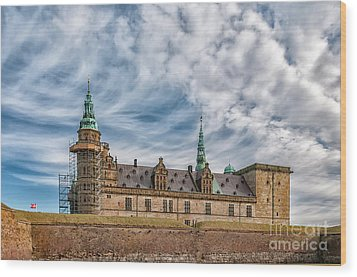 Wood Print featuring the photograph Kronborg Castle In Denmark by Antony McAulay