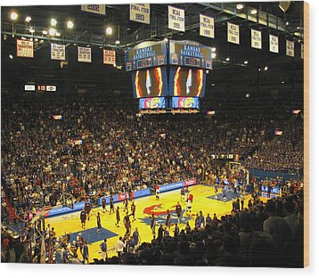 Ku Allen Fieldhouse Wood Print by Keith Stokes