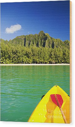Kualoa Mountains From Kay Wood Print by Dana Edmunds - Printscapes
