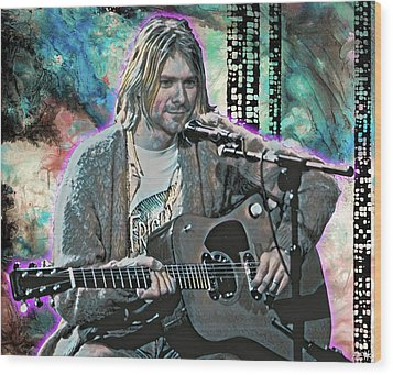 Kurt Cobain - Come As You Are Wood Print