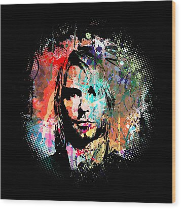 Kurt Cobain Wood Print by Gary Grayson