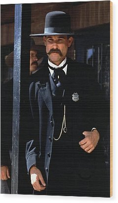 Kurt Russell As Wyatt Earp Tombstone Arizona 1993-2015 Wood Print by David Lee Guss