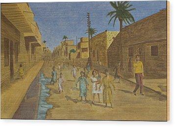 Kut Iraq Wood Print by Julia Collard