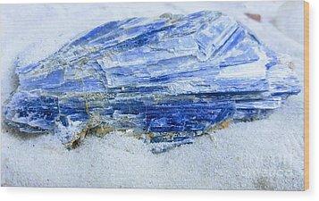 Kyanite Wood Print