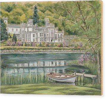 Kylemore Abbey Connemara Galway Wood Print by Vanda Luddy