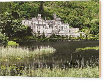Kylemore Abbey Victorian Ireland Wood Print