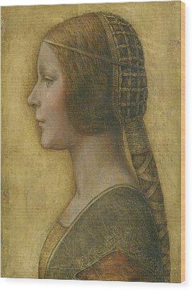 La Bella Principessa - 15th Century Wood Print by Leonardo da Vinci