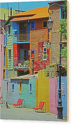 La Boca - Buenos Aires Wood Print by Juergen Weiss