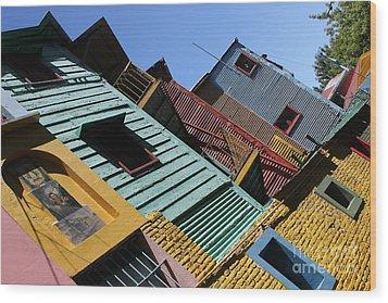 Wood Print featuring the photograph La Boca by Wilko Van de Kamp