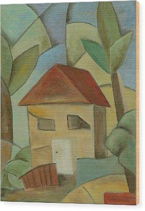 La Cabana Wood Print by Trish Toro
