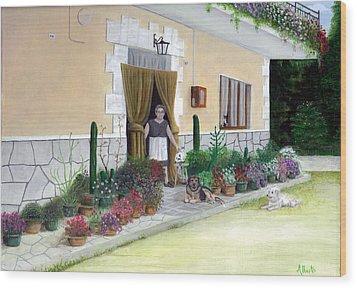 La Casa De Nonna Loreta Wood Print
