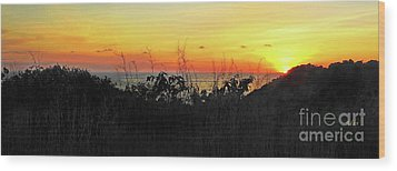 la Casita Playa Hermosa Puntarenas Costa Rica - Sunset A Panorama Wood Print by Felipe Adan Lerma