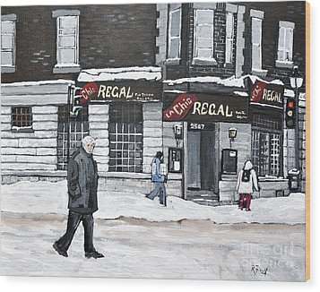 La Chic Regal Pointe St. Charles Wood Print by Reb Frost