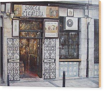 La Cigalena Old Restaurant Wood Print by Tomas Castano