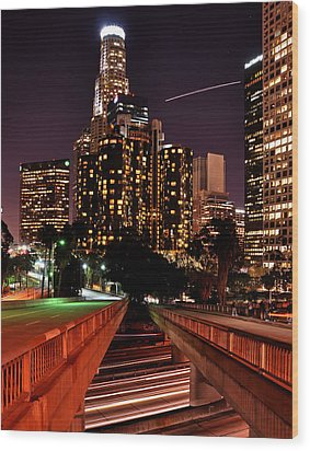 La City Lights Wood Print