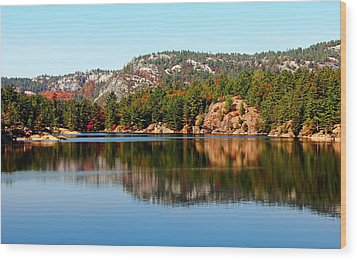 Wood Print featuring the photograph La Cloche Mountain Range by Debbie Oppermann