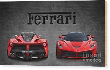 La Ferrari. Wood Print