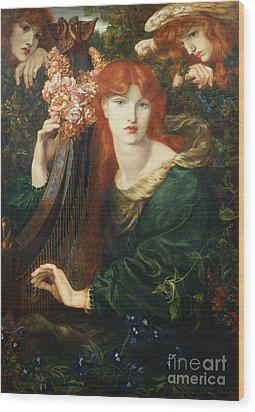 La Ghirlandata Wood Print by Dante Charles Gabriel Rossetti