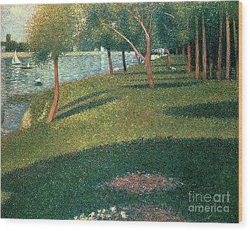 La Grande Jatte Wood Print by Georges Pierre Seurat