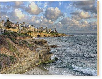 Wood Print featuring the photograph La Jolla Coastline by Eddie Yerkish