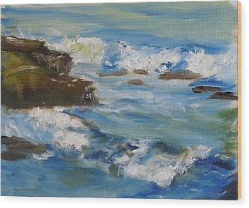La Jolla Cove 036 Wood Print by Jeremy McKay