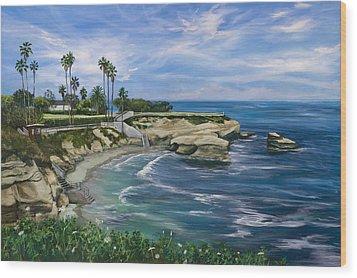 La Jolla Cove Wood Print by Lisa Reinhardt