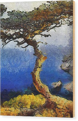La Jolla Torrey Pines  Wood Print by Russ Harris