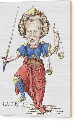 La Justice Wood Print by Debbie  Diamond