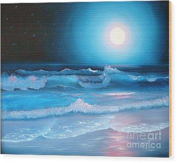 La Luna  My Seascape Collection Wood Print