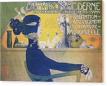 La Maison Moderne Wood Print by Manuel Orazi