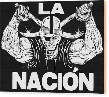 La Nacion Wood Print by Brian Child