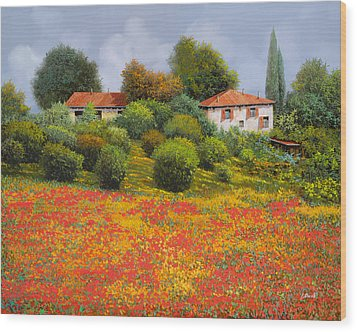 La Nuova Estate Wood Print by Guido Borelli