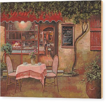 La Palette Wood Print by Guido Borelli
