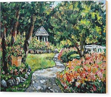 La Paloma Gardens Wood Print by Alexandra Maria Ethlyn Cheshire