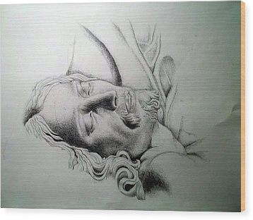 La Pieta Jesus Wood Print by Heather Calderon