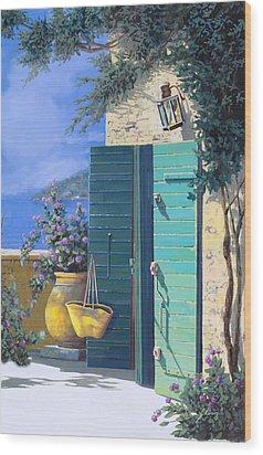 La Porta Verde Wood Print by Guido Borelli
