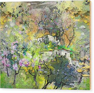 La Provence 07 Wood Print by Miki De Goodaboom