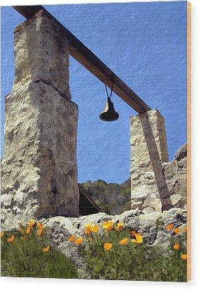La Purisima Mission Bell Tower Wood Print by Kurt Van Wagner