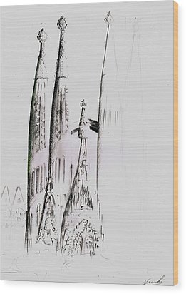 La Sagrada Familia Wood Print by Hiroki Uchida